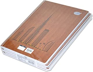 5-Piece FIS Burj Khalifa Spiral Note Book, 8mm Single Line, (70 Sheets), 70 GSM, A4 Size - FSNBA41902