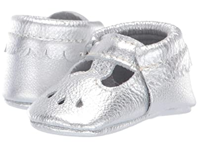 Freshly Picked Soft Sole Mary Jane USA (Infant/Toddler) (Silver) Girl