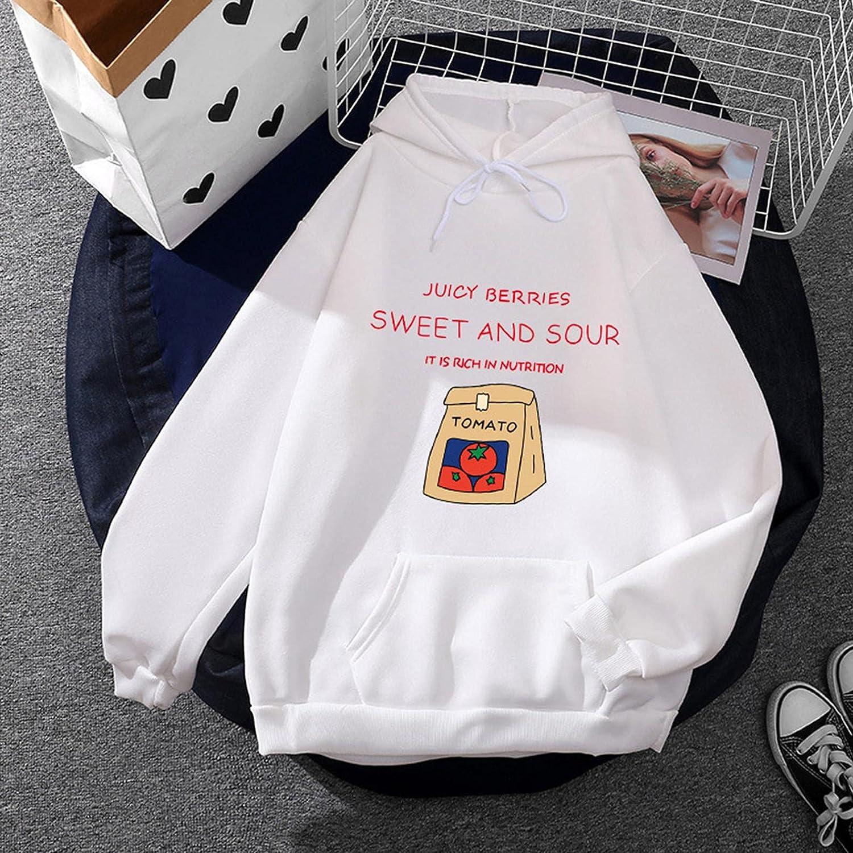 Toeava Women Hoodies Long Sleeve Cute Letter Print Loose Drawstring Pullover Hoodie Sweatshirt with Large Front Pocket