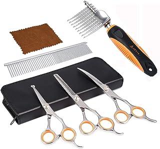 AEXYA Premium Dog Scissors Set and Dematting Comb