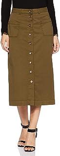 Amazon Brand - Symbol Cotton a-line Skirt