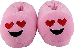 Qualtos Warm Shoes Emoji Bedroom Slipper Free Size Indoor Slipper Funny Soft Plush for Adults Kids Teens Bedroom Smiley Poop Socks Womens Girls Non-Skid Footpads