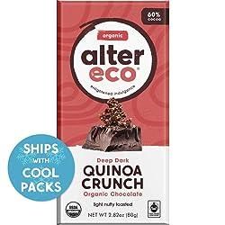 Alter Eco | Dark Quinoa Crunch | 60% Pure Dark Cocoa, Fair Trade, Organic, Non-GMO, Gluten-Free Dark