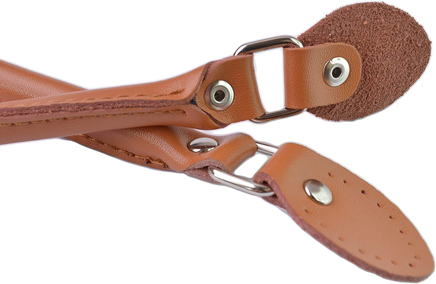 Wento 23.6 Inches Purse Handles Leather Purse Strap Leather Handles for Handbag
