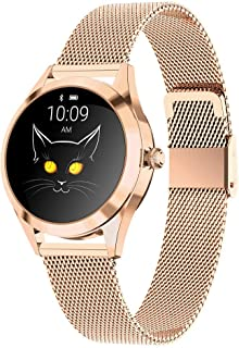 Smart Watch Women Fashion Smart Band IP68 Waterproof Smartwatch Heart Rate Monitoring Physiological Reminder Fitness Bracelet Smartwatches for Android IOS,E