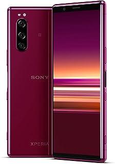 Sony Xperia 5 Bundle, 6,1 tum FHD+ HDR OLED 21:9 display, 6 GB RAM, 128 GB minne, röd + gratis 64 GB minneskort [Exklusivt...