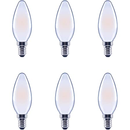 Dimmable All Glass 6-Pack Soft White B11 LED Light Bulb Basics 40 Watt Equivalent