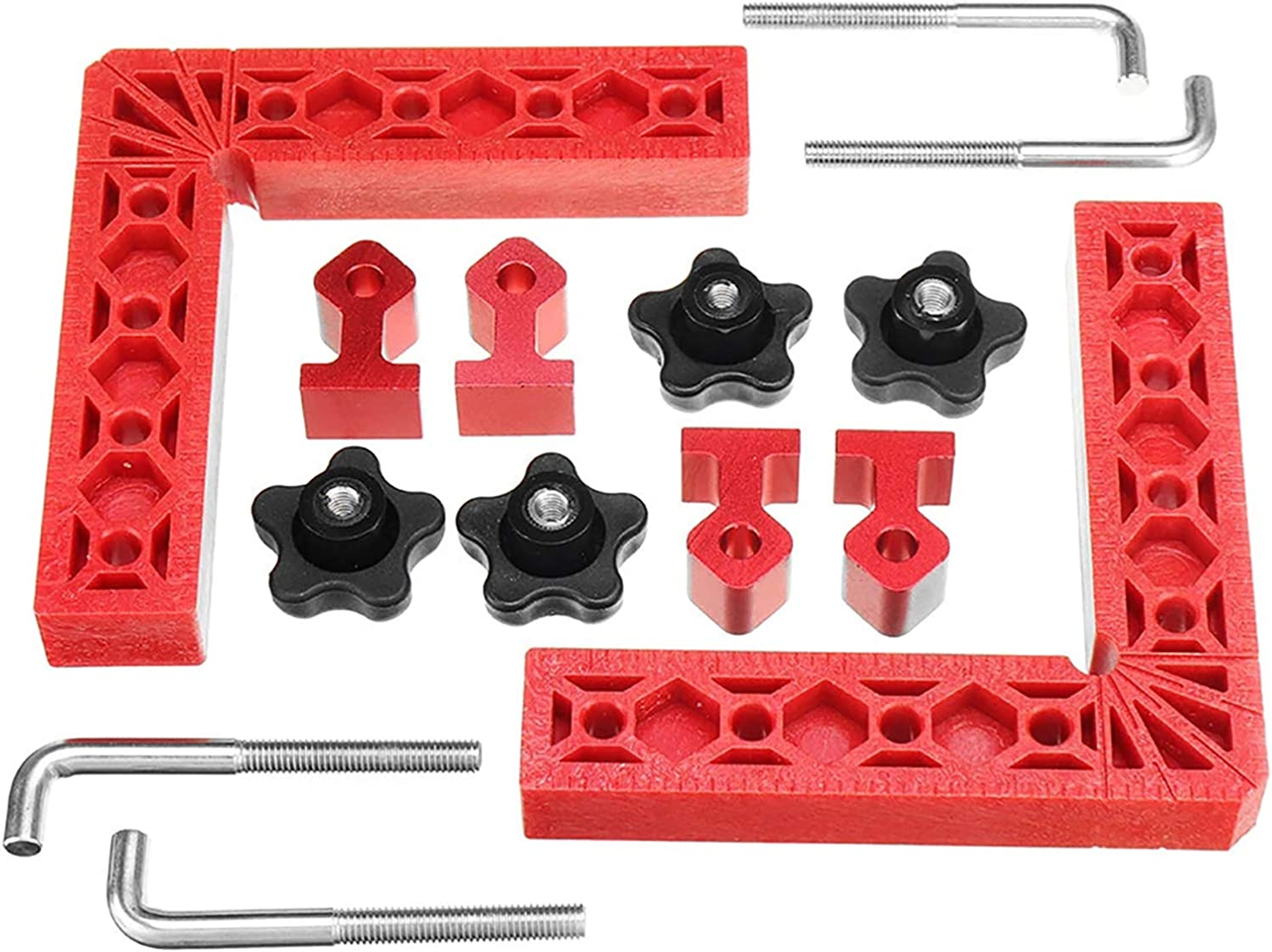CALIDAKA 6inch Right Angle Clamps 90 Degree Positioning Squares,L-Type Corner Clamp,Woodworking Carpenter Clamping Tool for Picture Frames Boxes Cabinets Or Drawers 4 Clamps