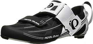 Pearl iZUMi Men's TRI Fly Elite V6 Cycling Shoe White/Black 42 EU/8.5 D US
