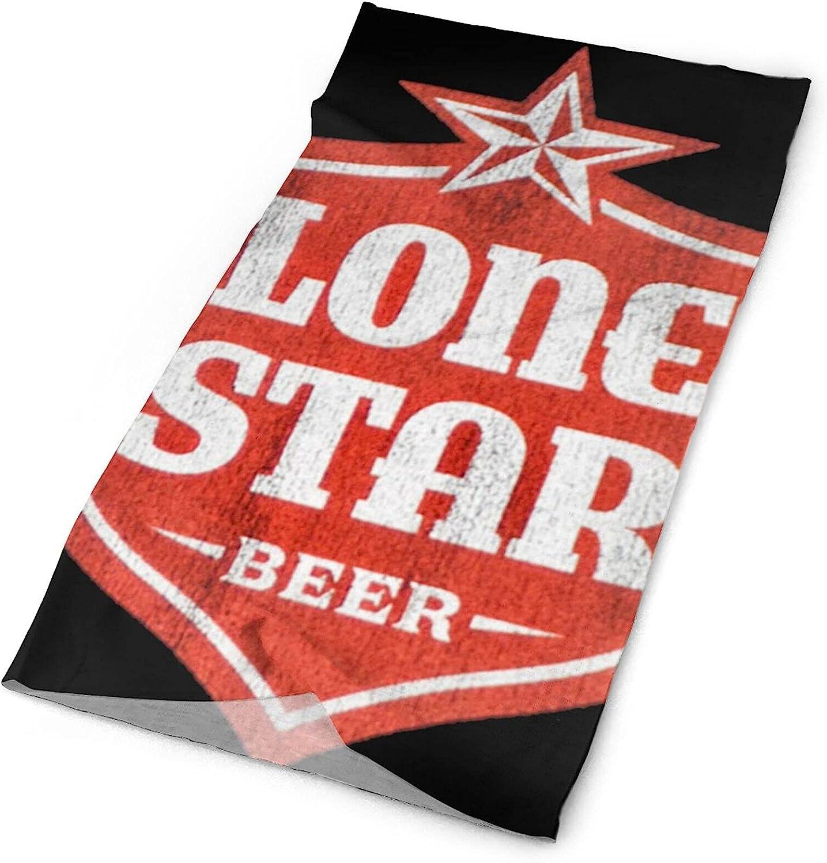 Bclghy Lone Star Beer Towel Unisex Face Mask Bandana Balaclava One Size White