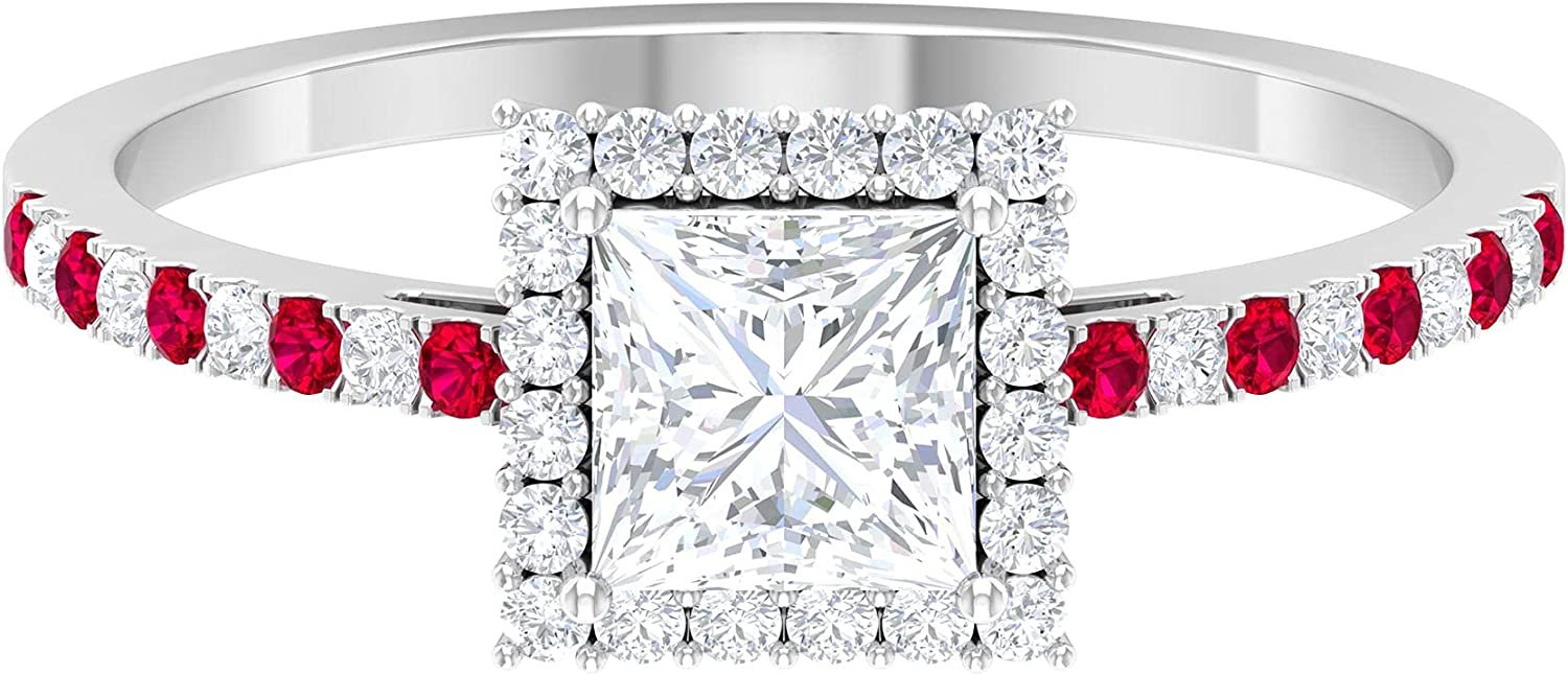 April Birthstone - 1 CT Princess Some reservation Cut Now free shipping Solitaire Promise R Diamond