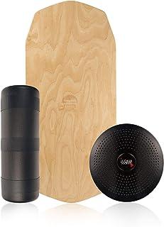 comprar comparacion JUCKER HAWAII Balance Board Homerider Ahi Pure - Tabla de Equilibrio Balancetrainer con Rodillo y Cojin