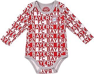 FC Bayern München Baby Body Langarm FC Bayern rot/weiß