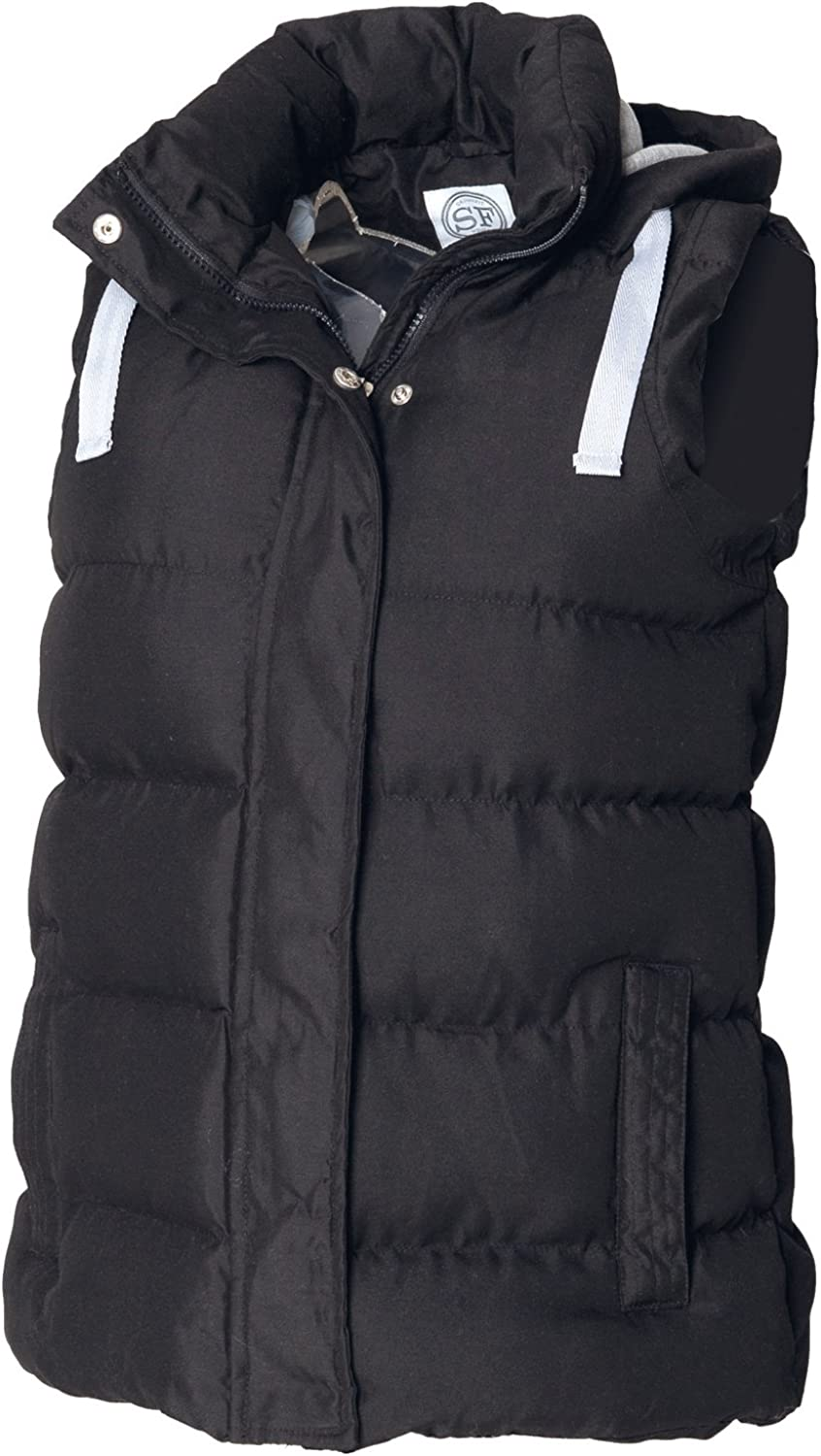 Skinni Fit Padded Gilet with Detachable Hood
