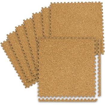 WEIMALL コルクマット ジョイントマット 45×45cm 厚さ0.8cm 24枚(約3畳用) サイドパーツ付き 防音