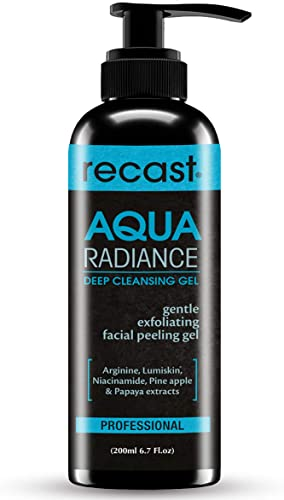 Recast Aqua Radiance Deep Cleansing Gel Korean Beauty Style Product Gently removes dead skin cells to reveal instant smoother and brighter complex Gel to Scrub formula 200ml