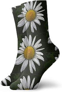 デイジー白黒および黄色の流行の多彩でファンキーなパターン化された綿の服のソックス11.8インチ