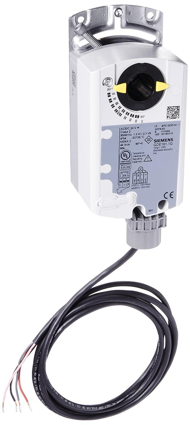 Siemens GDE161.1Q Actuator,NSR,44 LB-IN, 0-10V, 6FT PLENUM