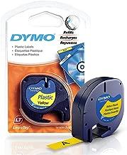 Dymo LetraTag Plus LT-100T Plastic Label Tape, 1/2