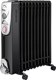 Ardes ar4r11bt Radiador de aceite eléctrico con 11elementos, 3Potenze, temporizador y compartimiento enrollacables, 2500W, Negro/Silver