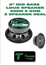 (2) Timpano TPT-MD6 Full Range Mid Bass Loud Speaker 6