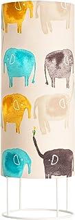Pauleen 48043 Cute Elephant Lamp máx. 20W, sobremesa, lámpara Infantil E14, Elefante Crema/Multicolor Metal/Tela sin Bombilla, Beige, de Colores