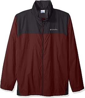 Columbia Men's Big and Tall Glennaker Lake Front-Zip Rain Jacket with Hideaway Hood, Elderberry/Shark, 4X