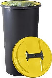 KUEFA BSC6 60L Mulleimer Mullsackstander Gelber Sack Stander Gelb