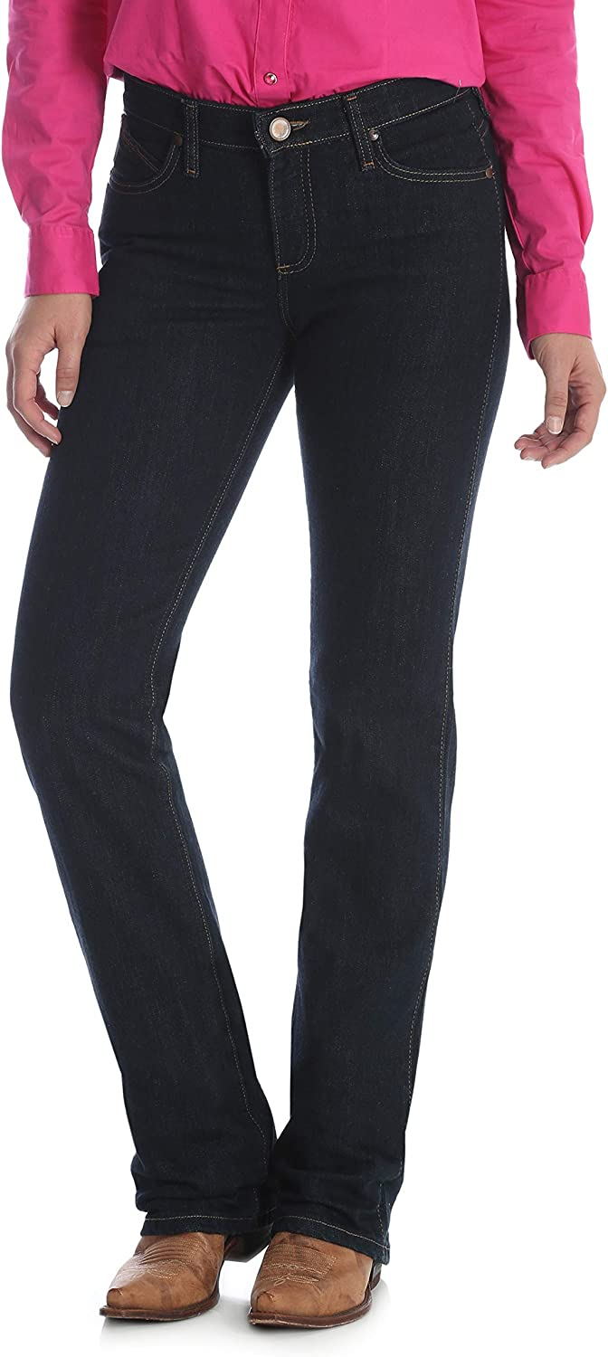 Wrangler Womens Plus-Size Women's Q-Baby Mid Rise Boot Cut Ultimate Riding Jean