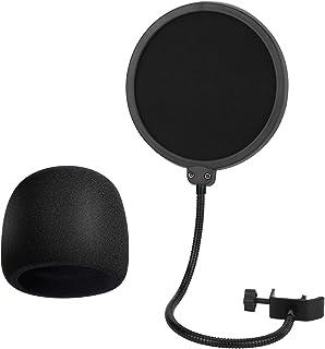 Bkinsety Filtro Pop de Micrófono con Doble Capa Protector de Sonido Protector de Ventana Popfilter para Blue Yeti, Yeti Pro Condenser Micrófono