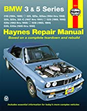 BMW 3 & 5 Series (82-92) Haynes Repair Manual (Does not include information specific to diesel engine or all-wheel drive models. Includes vehicle ... exclusion noted) (Haynes Repair Manuals)