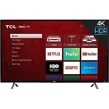 "TCL 49"" Class 4-Series 4K UHD HDR Roku 2017 Smart TV - 49S405"