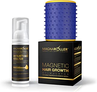 MagnaRoller Magnetic Hair Growth Products - Natural Hair Loss Treatment System for Men & Women | DHT Blocker Anti Thinning Formula & Scalp Massager for Hair Growth