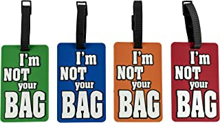 funny luggage tags not your bag