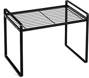Countertop Organizer, Cupboard Stand Spice Rack, Cabinet Pantry Shelf, Organization and Storage For Kitchen Bathroom (Black 13