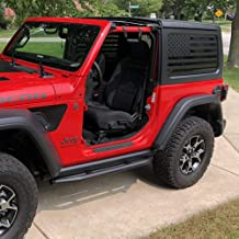 XPLORE OFFROAD - Jeep Wrangler   Precut USA Flag Window Decals   Matte Black American Vinyl for Rear Side Windows   Both Sides JKU 2011-2017 (2 Door)