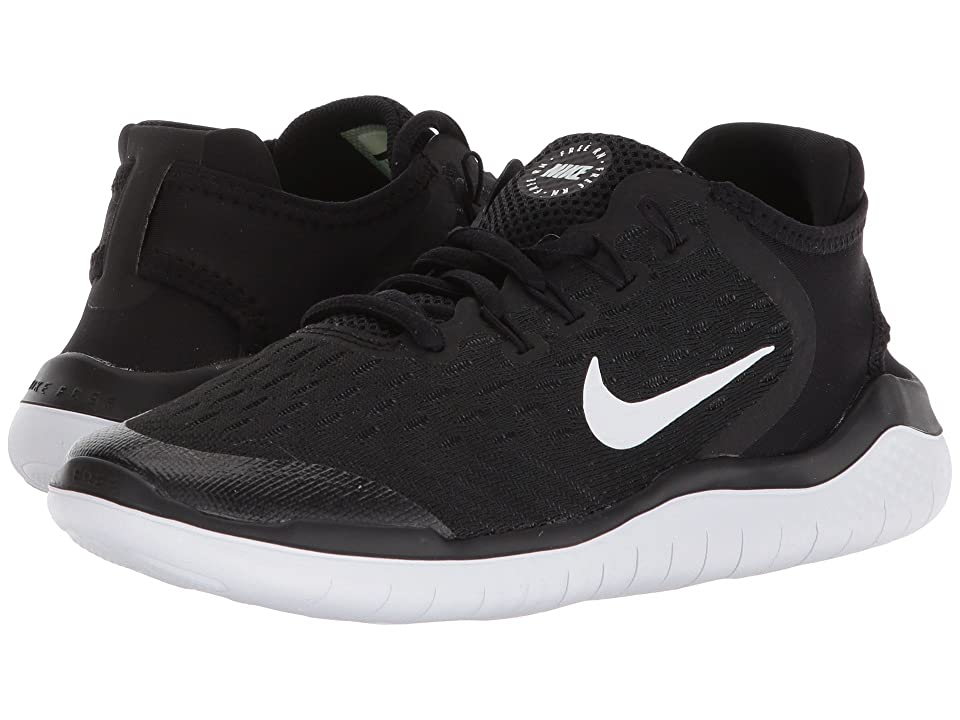 Nike Kids Free RN (Big Kid) (Black/White) Boys Shoes