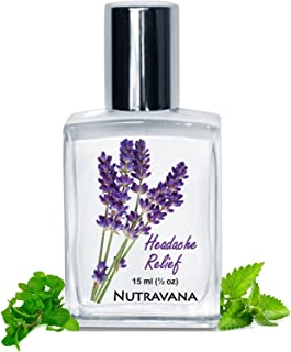 Headache Relief for Migraine, Tension, Sinus Headaches Pressure Calm Stress 15ml Nutravana All Natural Kids Safe Aromatherapy Pure Therapeutic Grade Essential Oils Peppermint Lavender Blend Roll-on