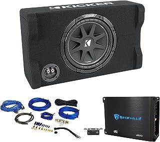 "$214 » KICKER 48CDF104 Comp12 10"" 300w Down Firing Car Subwoofer Bundle with Rockville dB10 Mono Car Audio Amplifier & Rockville ..."
