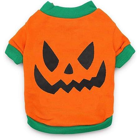 Dog Halloween T Shirts.Amazon Com Droolingdog Pet Clothes Dog Halloween T Shirt Pumpkin Head Xs Dog Shirts Costume For Small Dogs Xs Deep Green Pet Supplies