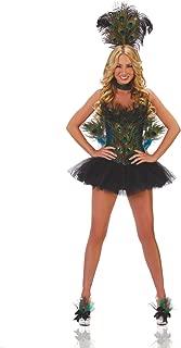 Women's Sexy 5 Piece Deluxe Peacock Costume