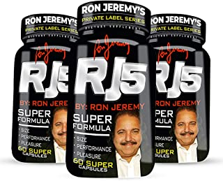 Superstar Ron Jeremy's Famous Personal High-Performance Men's Formula. Boost Vitality, Stamina and Enhance Pleasure.Women Will Notice The Difference.3 Month Supply -180 Power Capsule