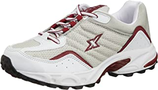Sparx Men's Silver and Red Running Shoes - 10 UK (SM-04)
