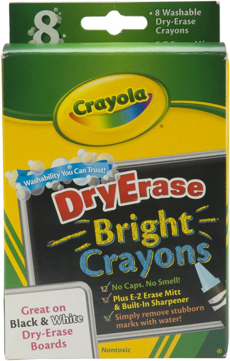 Crayola Washable Dry Erase Quantity limited Crayons ea Bright Assorted Colors Award-winning store 8