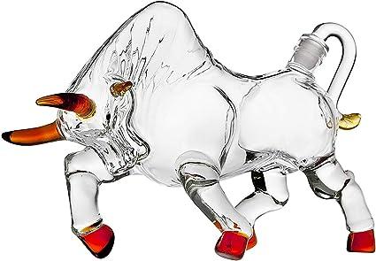 La Forma de la Vaca del Licor del Vino Decanter Hecho for ...