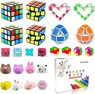Pinata Filler,Treasure Chest,Mini Magic Cube,Brain Teaser Puzzle Boxes,Mochi Squishies,Snake Twist Puzzle,IQ Puzzle Toy,Tr...