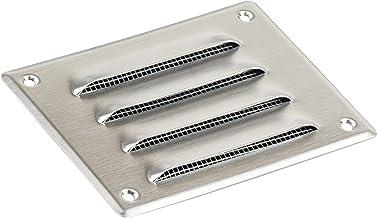 Roestvrij stalen ventilatierooster 140x105mm metalen afvoerrooster ventilatie met insectenbeschermingsrooster - afvoerluch...