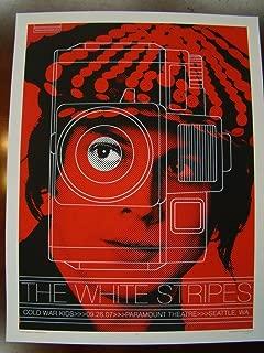 Jack White White Stripes Music Poster White Stripes Seattle 07 Jones (Jack)