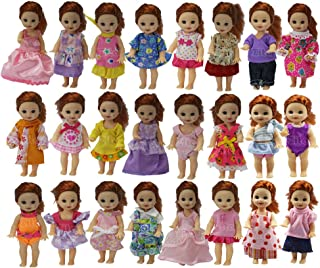 ZITA ELEMENT 10 Sets Fashion Handmade Cute Clothes for 11.5 Inch Girl's Sister 4 Inch Doll Outfits