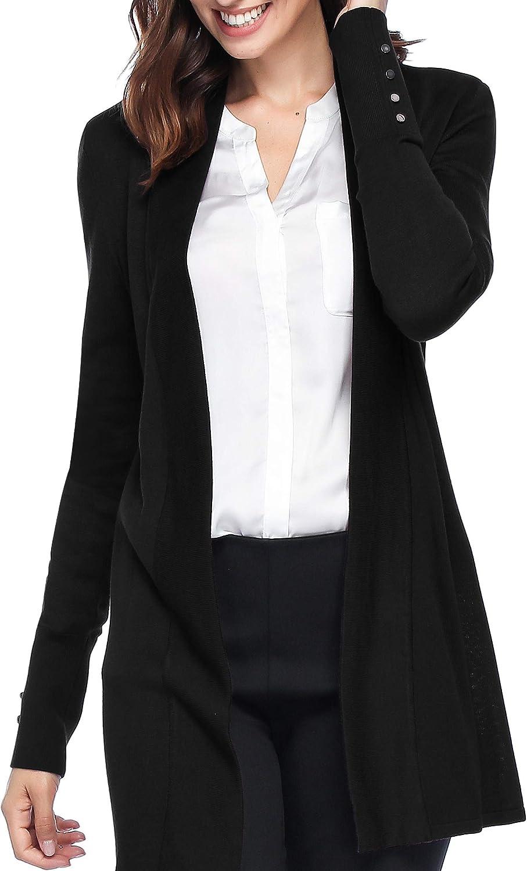Spicy Sandia 新作入荷!! 即出荷 Women's Open Front Lightweight Long Cardigans Knit